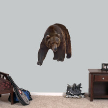 "Real Life Grizzly Bear Printed Wall Decals 28"" wide x 34"" tall Sample Image"