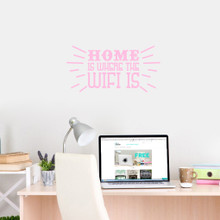 """Home Is Where The Wifi Is Wall Decals 24"""" wide x 12"""" tall Sample Image"""