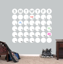 """Dry Erase Circle Calendar Wall Decals 36"""" wide x 31"""" tall Sample Image"""