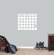 """Dry Erase Circle Calendar Wall Decals 20"""" wide x 17"""" tall Sample Image"""