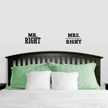 Mr. Right & Mrs. Always Right Wall Decals Small Sample Image