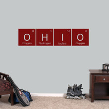 "Ohio Periodic Table - Wall Decal Wall Stickers 48"" wide x 11.5"" tall Sample Image"