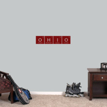 "Ohio Periodic Table - Wall Decal Wall Stickers 24"" wide x 5.5"" tall Sample Image"