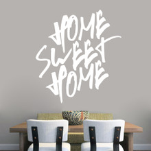 "Home Sweet Home Wall Decal 44"" wide x 48"" tall Sample Image"
