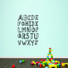 """Alphabet Doodle Wall Decals 32"""" wide x 48"""" tall Sample Image"""