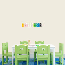 """Crayons Printed Wall Decals 22"""" wide x 4"""" tall Sample Image"""