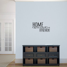 "Home Sweet Apartment Wall Decal 24"" wide x 13"" tall Sample Image"