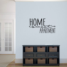 "Home Sweet Apartment Wall Decal 36"" wide x 20"" tall Sample Image"