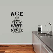 "Age And Glasses Of Wine Wall Decal 21"" wide x 36"" tall Sample Image"