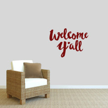 "Welcome Y'all Ohio Wall Decal 24"" wide x 18"" tall Sample Image"