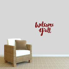 "Welcome Y'all Ohio Wall Decal 18"" wide x 14"" tall Sample Image"