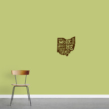 "The Farmer Ohio Wall Decal 11"" wide x 12"" tall Sample Image"