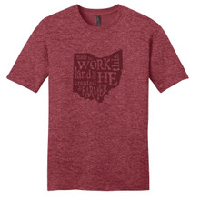 The Farmer Heathered Red T-Shirt