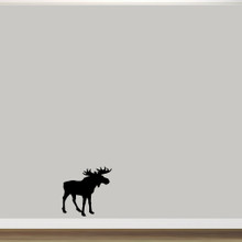 """Moose Silhouette Wall Decal 22"""" wide x 22"""" tall Sample Image"""