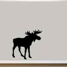 """Moose Silhouette Wall Decal 48"""" wide x 48"""" tall Sample Image"""