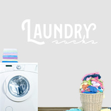 """Laundry Sucks Wall Decal 48"""" wide x 16"""" tall Sample Image"""