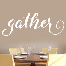 """Gather Wall Decal 60"""" wide x 22"""" tall Sample Image"""