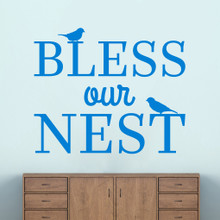 "Bless Our Nest Wall Decal 48"" wide x 40"" tall Sample Image"