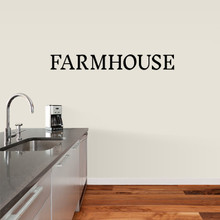 """Farmhouse Wall Decal 48"""" wide x 6"""" tall Sample Image"""