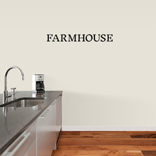 """Farmhouse Wall Decal 36"""" wide x 4"""" tall Sample Image"""