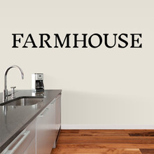 """Farmhouse Wall Decal 72"""" wide x 8"""" tall Sample Image"""