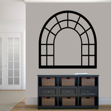 """Arched Window Frame Wall Decals 48"""" wide x 48"""" tall Sample Image"""