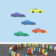 Race Cars Printed Wall Decals Medium Sample Image