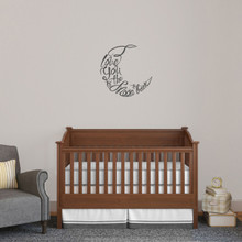 "I Love You To The Moon And Back Script Wall Decal 18"" wide x 218"" tall Sample Image"