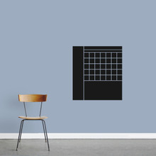 """Chalkboard Calendar With Notes Wall Decals 22"""" wide x 24"""" tall Sample Image"""