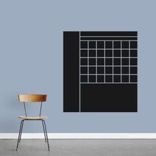 """Chalkboard Calendar With Notes Wall Decals 33"""" wide x 36"""" tall Sample Image"""