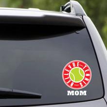 Printed Bellevue Tennis Mom Vehicle Decal Sample Image