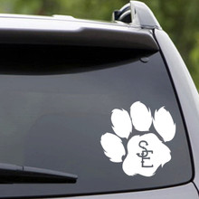 "Seneca East Paw Print Vehicle Decal 6"" wide x 6"" tall Sample Image"