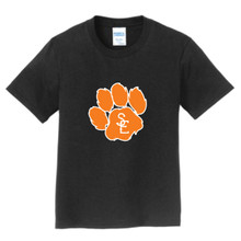 Black Seneca East Paw Print Youth Unisex T-Shirt