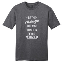 Heathered Charcoal Be The Change T-Shirt