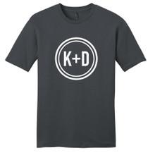Charcoal Custom Circle Initials T-Shirt