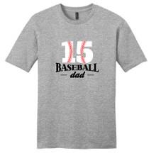 Light Heathered Gray Custom Baseball Dad T-Shirt