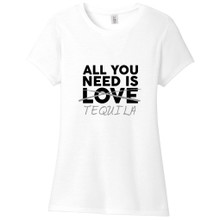 White All You Need Is Tequila Women's Fitted T-Shirt