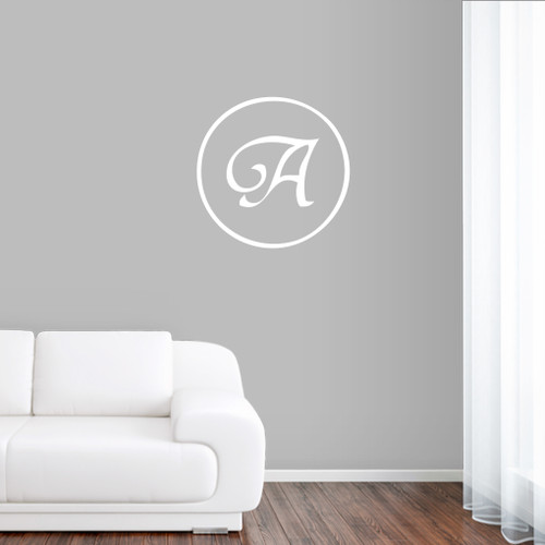 Traditional Monogram Wall Decals and Stickers