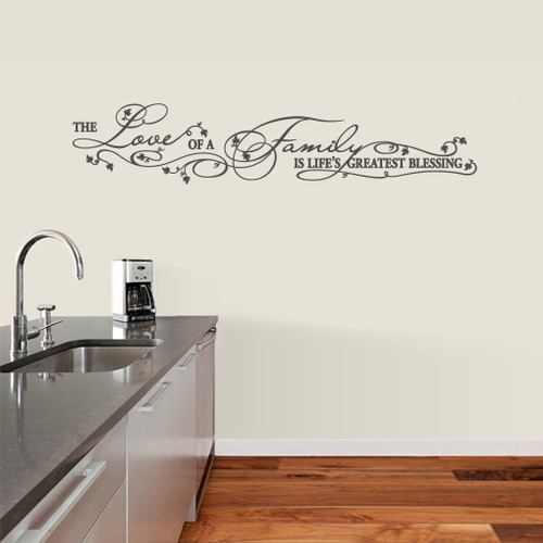 "Life's Greatest Blessing Wall Decals 60"" wide x 12"" wide Sample Image"