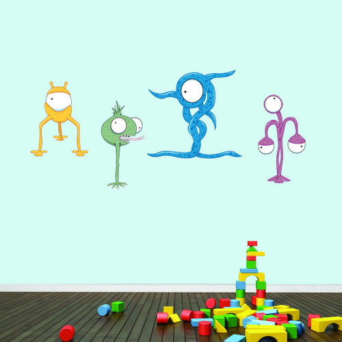 Fun Aliens Printed Wall Decals