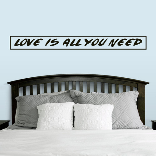 """Love Is All You Need Wall Decals 60"""" wide x 6"""" tall Sample Image"""