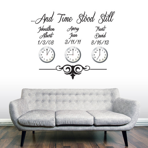 Custom Time Stood Still Wall Decals and Stickers