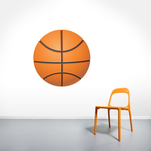 "Basketball Printed Wall Decals 30"" wide x 30"" tall Sample Image"