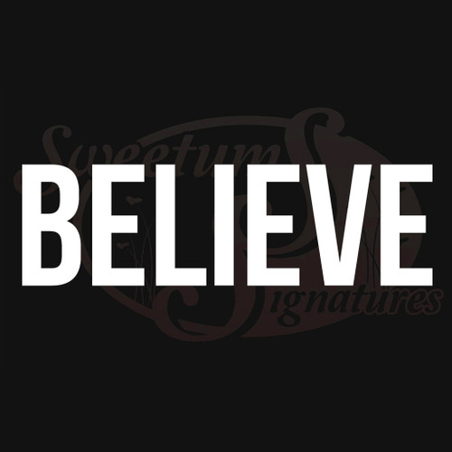 Believe Vehicle Decal Wall Stickers