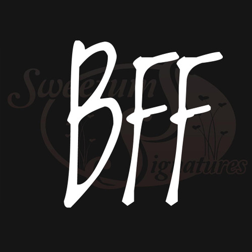 BFF Vehicle Decals Stickers