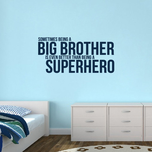 "Big Brother Wall Decals 48"" wide x 22.5"" tall Sample Image"