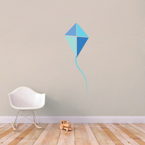 """Blue Kite Printed Wall Decals 19"""" wide x 60"""" tall Sample Image"""