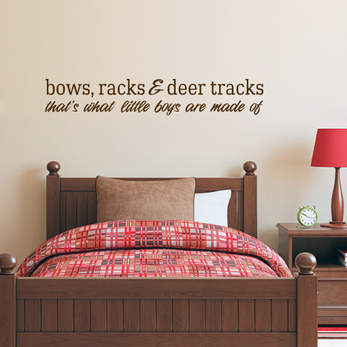 "Bows Racks & Deer Tracks Wall Decals Wall Stickers 60"" wide x 10"" tall Sample Image"