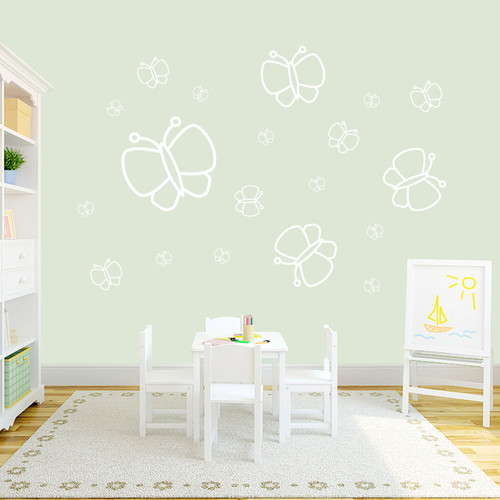 Butterflies Wall Decals Sample Image