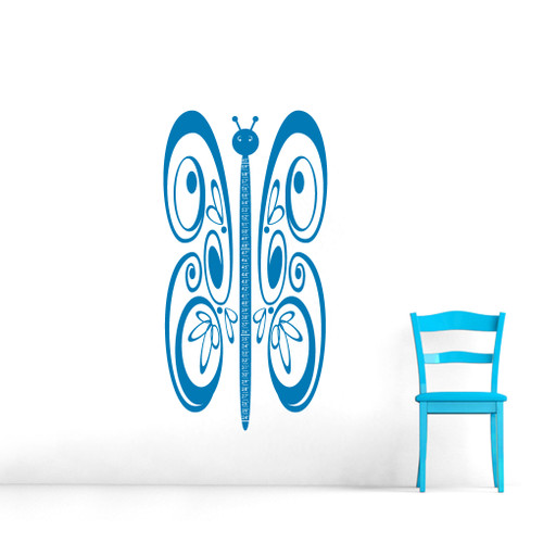 Butterfly Growth Chart Wall Decals and Wall Stickers